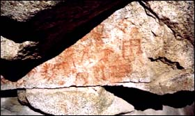 Pictographs by the Cahuilla Indians
